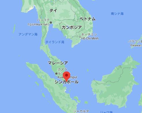 シンガポールの位置