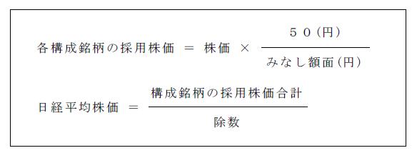 日経平均株価の計算式