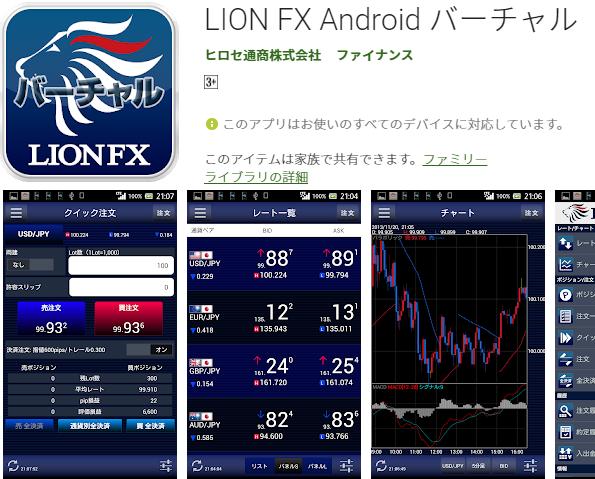 ヒロセ通商のFX練習アプリ