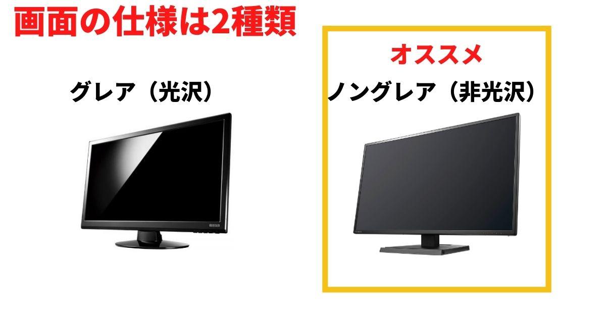 画面の仕様は2種類