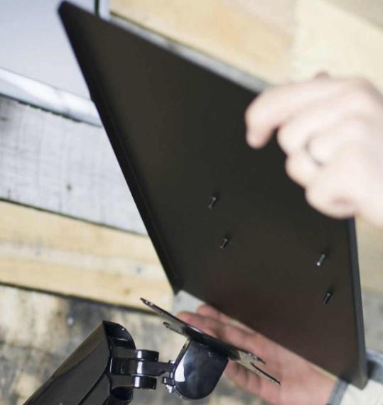 キーボードトレイの取付イメージ