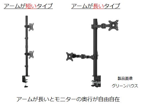 縦2画面用デュアルモニターの種類